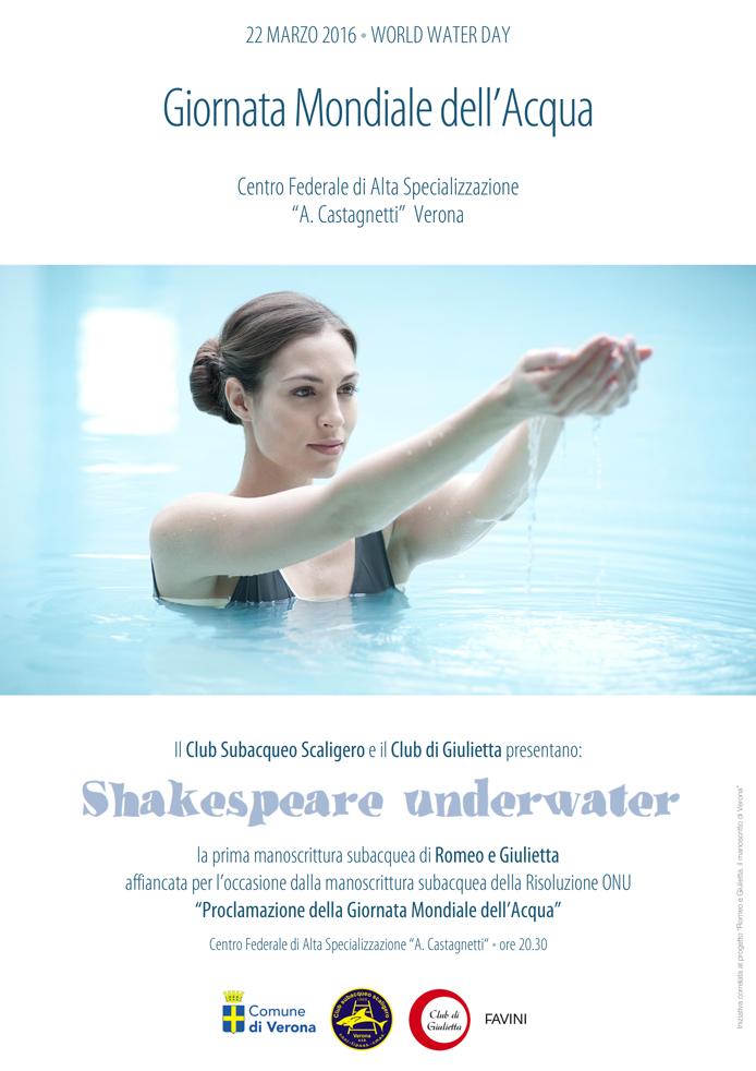 Locandina Giornata Mondiale Acqua _Giulietta Romeo Manoscritto Verona
