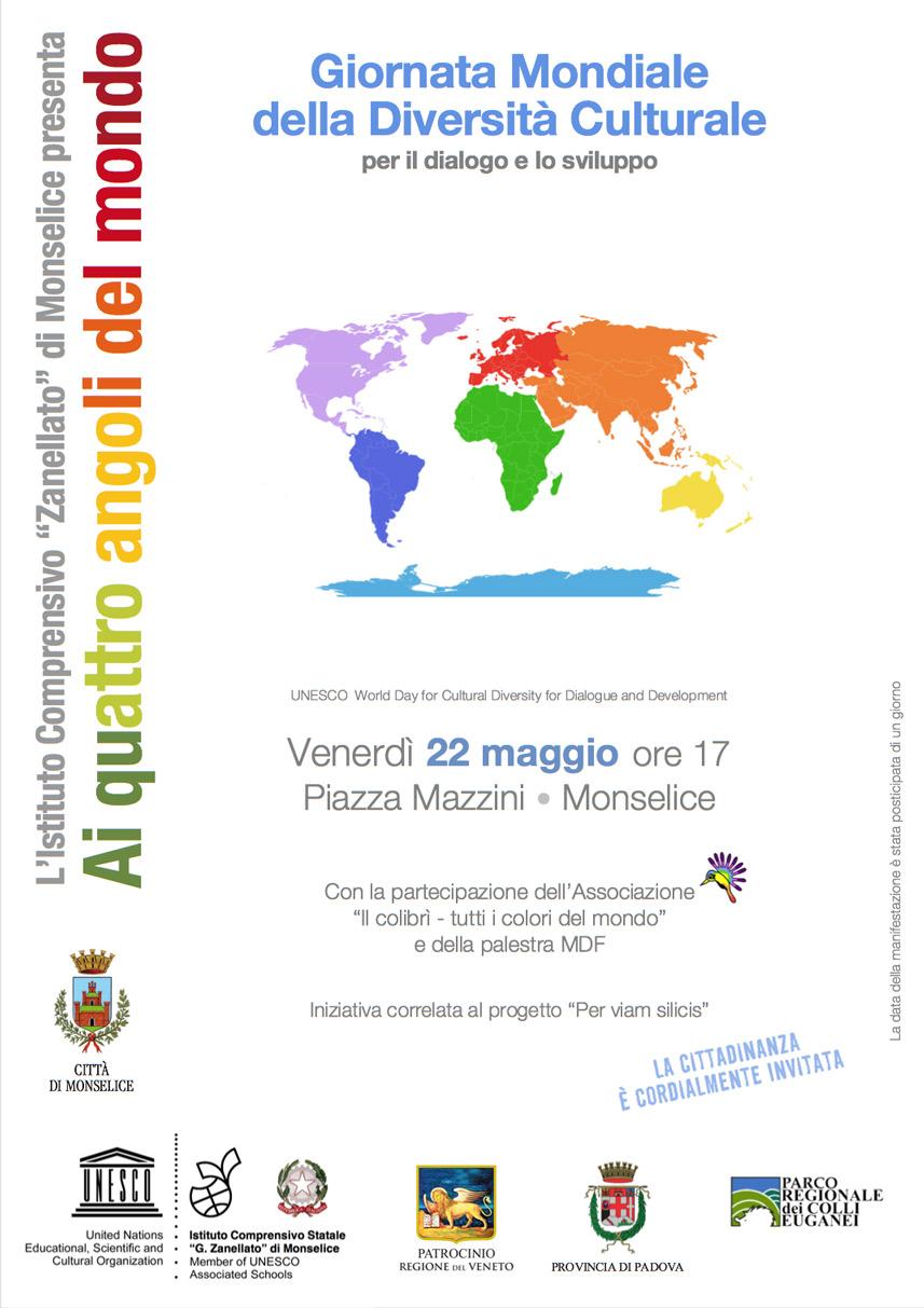 Locandina Giornata Mondiale Diversita Culturale