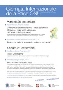 Manifesto Giornata Internazionale della PAce ONU
