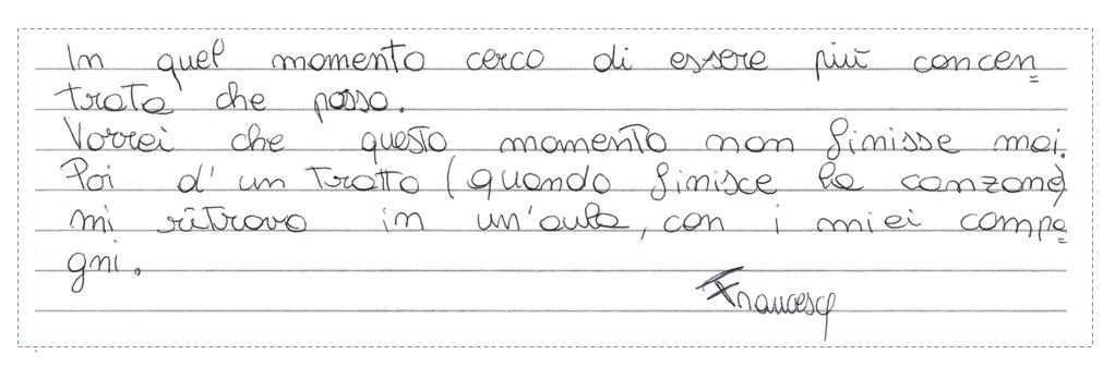 Pensiero su Mimolamusica FR per Luca Brunoro