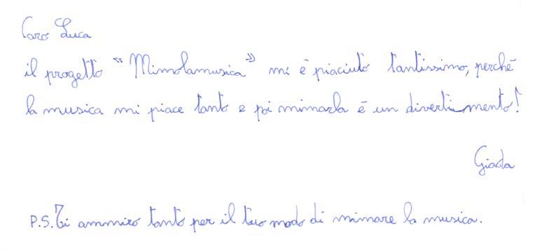 Pensiero su Mimolamusica Gd per Luca Brunoro