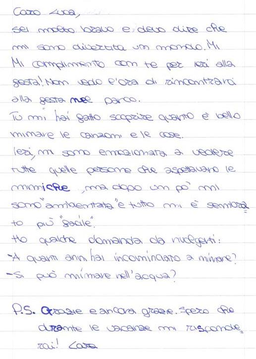 Pensiero su Mimolamusica Lr per Luca Brunoro