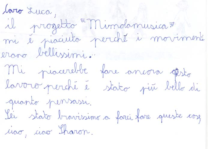Pensiero su Mimolamusica Shr per Luca Brunoro