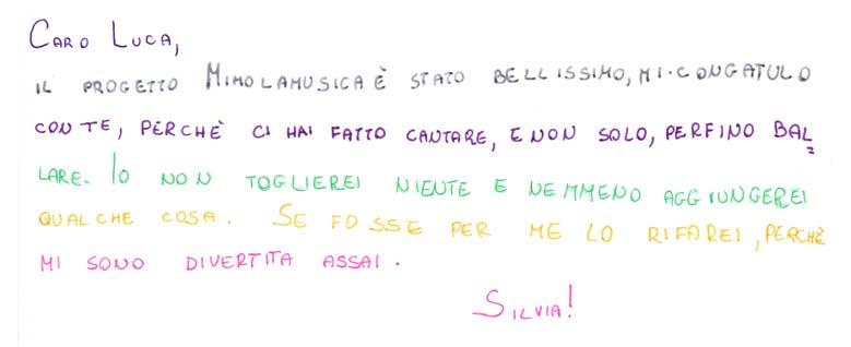 Pensiero su Mimolamusica Slv per Luca Brunoro