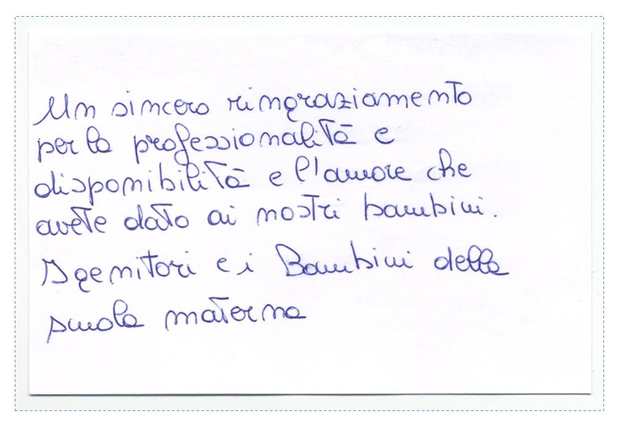 Ringraziamento Progetto Mimolamusica Scuola Infanzia