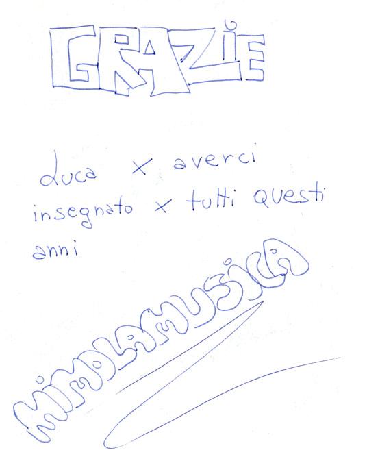 Scritta Mimolamusica Bambini per Luca Brunoro