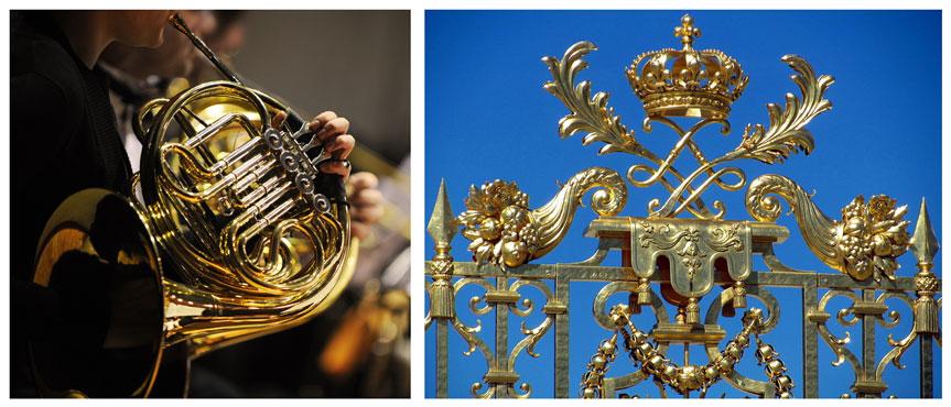 Corno-Francese e Cancello Dorato di Versailles