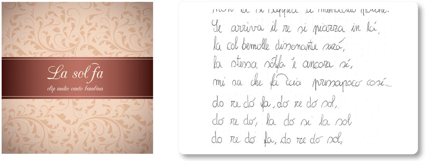La solfa Luca Brunoro Immagine estratto canto e scritto bambina